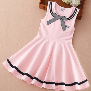 Children Girls Navy School Wind Style Summer Dress