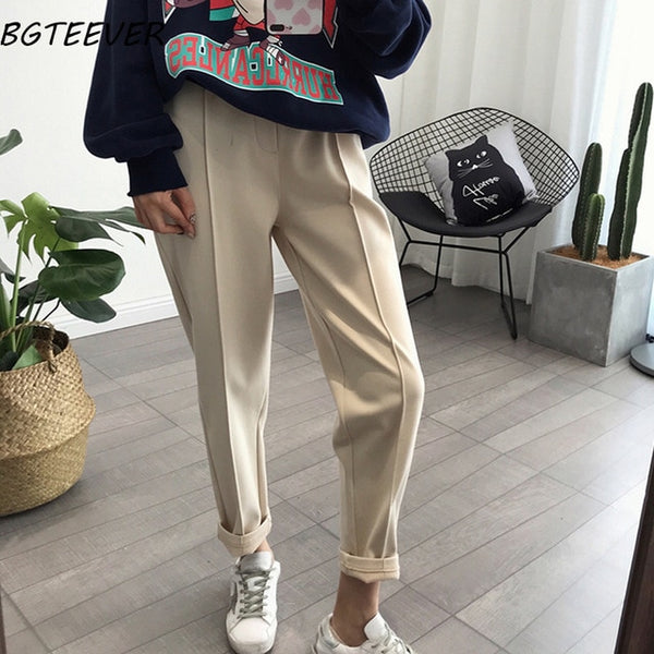 Spring Thicken Women Pencil Pants
