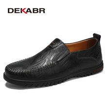 Load image into Gallery viewer, DEKABR Men Shoes Genuine leather Comfortable Men Casual Shoes Footwear Chaussures Flats Men Slip On Lazy Shoes Zapatos Hombre