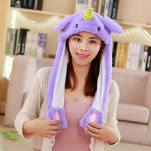 Load image into Gallery viewer, free ship 2018 Fashion Moving Hat Rabbit Ears Plush Sweet Cute Airbag Cap 18 color can be choose  Polyester