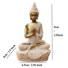 Load image into Gallery viewer, VILEAD 16 Style Buddha Statue Nature Sandstone Thailand Buddha Sculpture Hindu Fengshui Figurine Meditation Miniature Home Decor