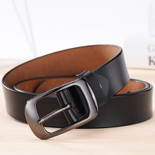 Load image into Gallery viewer, NO.ONEPAUL Women's genuine leather fashion retro belt high quality luxury brand ladies metal double buckle new belt with jeans
