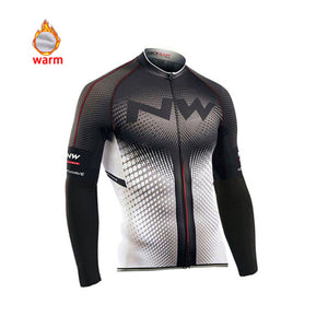 Pro Team Winter Thermal Fleece Cycling Clothes Men