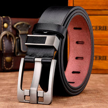 Load image into Gallery viewer, [DWTS]men belt male high quality leather belt men male genuine leather strap luxury pin buckle fancy vintage jeans free shipping