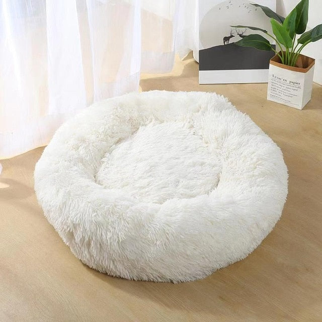 Long Plush Dog Bed