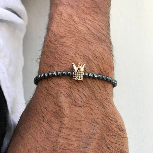 Crown Charm Men bracelet