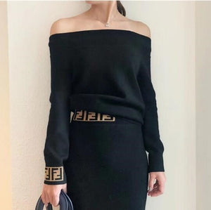 Casual Letter long sleeve short pullover sweater