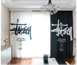Fashion Curtain Asymmetric Design