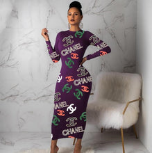 Load image into Gallery viewer, Women Crew Neck Long sleeves Maxi dresses