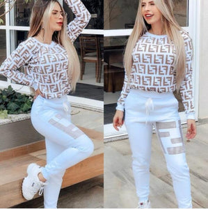 F Letters Women Two Piece Outfits