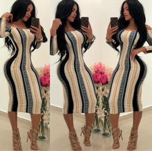 Load image into Gallery viewer, Women Designer Dress Stretch Party Dresses