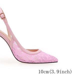 pointed closed toe lace low heel shoes