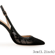 Load image into Gallery viewer, pointed closed toe lace low heel shoes