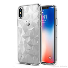 Load image into Gallery viewer, Transparent Case For XS Max 8 7 S9 S8 S10 Ultra-Thin Diamond texture Clear TPU Case Shockproof Back Cover