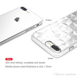 Transparent Case For XS Max 8 7 S9 S8 S10 Ultra-Thin Diamond texture Clear TPU Case Shockproof Back Cover