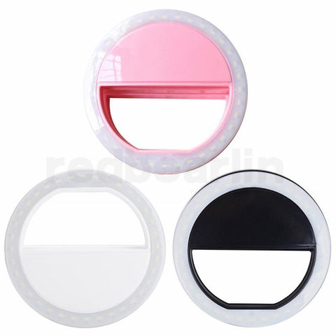 Selfie Light Ring LED Rechargeable Flash Clip Camera for iPhone HTC Samsung Phones with Retail Box