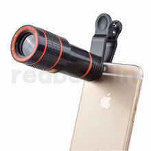 Load image into Gallery viewer, Universal 12X Optical Zoom Telescope Camera Lens Clip Mobile Phone Telescope For Smart phone