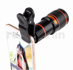 Universal 12X Optical Zoom Telescope Camera Lens Clip Mobile Phone Telescope For Smart phone
