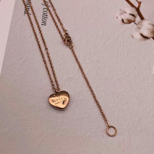 Jewelry Titanium Steel LOVE Pendant Necklace 18K Gold Plated