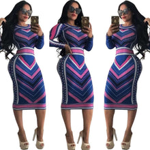 Load image into Gallery viewer, Women Designer Dress Stretch Party Dresses Floral Print Skinny Club Wear Gorgeous Vestidos Luxury Maxi Bandage Bodycon Dress