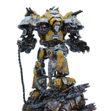 "alt=""imperial knight dominus shoulder mounted tilt shield shown on yellow painted hawkshroud valiant"""