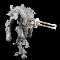 "alt=""imperial knight armiger shoulder mounted tilt shield, mounted on the right hand shoulder of an armiger. Armed with chain blade and twin barrel autocannon"""
