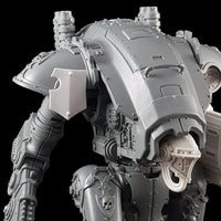 "alt=""imperial knight armiger shoulder mounted tilt shield, mounted on the right hand shoulder of an armiger close up view"""