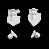 "alt=""Imperial knight armiger tilt shields shown as a pair with their mounting brackets, rear view"""