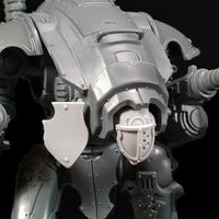 "alt=""imperial knight armiger pictured with a twin head and an attached tilt shield to the right"""