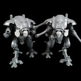 "alt=""a pair of imperial knight armigers pictured with a twin head and an attached tilt shields"""