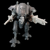 "alt=""imperial knight armiger modelled with skull head cables looped, radiation beamer, electromagnetic lock and waist extender, aiming to its left"""