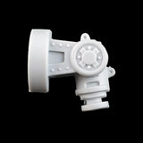 "alt=""imperial knight armiger replacement shoulder joint assembled front on view"""