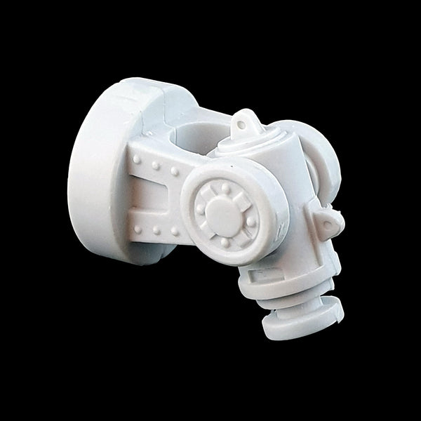 "alt=""imperial knight armiger replacement shoulder joint assembled quarter view"""