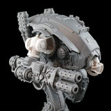 "alt=""imperial knight armiger replacement shoulder joint shown in situ on armiger with stock gun attached"""