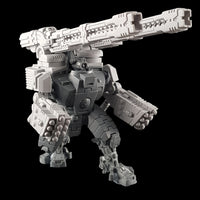 "alt=""tau broadside battlesuit missile arms assembled on a tau broadside model with additional railgun add-ons"""