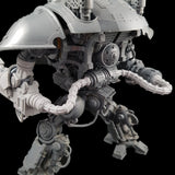 "alt=""power cables attached to the power pack of an imperial knight and curving out to attach to the arm weapons"""