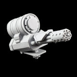 "alt=""imperial knight canopy mounted gatling cannon assembled right hand view"""