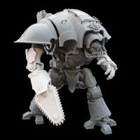 "alt=""imperial knight chain fist assembled on the right arm of an imperial knight"""