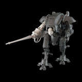 "alt=""Armiger resin combat arm assembled with lancee, shown on an imperial knight armiger model, with skull head. pictured face on"""
