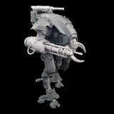 "alt=""armiger convergence beam cannon assembled on an armiger, with custom skull head, top mounted gun and combat claw also from the store"""