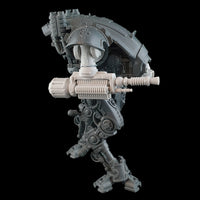 "alt=""Armiger wardog electromagnetic lock energy weapon without gun shield shown on an armiger imperial knight, right hand side view"""