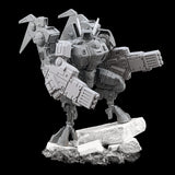 "alt=""tau coldstar fusion arms assembled on plastic battlesuit, pictured with foot up on concrete slab looking directly at camera"""
