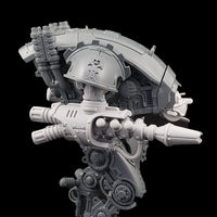 "alt=""graviton pulsars assembled on imperial knight armiger, right hand view"""