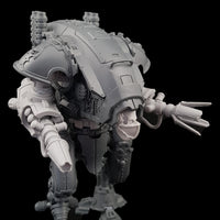 "alt=""graviton pulsars assembled on imperial knight armiger, also pictured with masked skull head"""