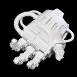 "alt=""left hand side assembled imperial knight gauntlet palm up"""