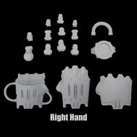 "alt=""right hand side imperial knight gauntlet unassembled components"""