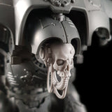 "alt=""imperial knight skull head with cables looped up, assembled on an imperial knight. Shown looking to the left in a focused view showing the orb like eyes"""