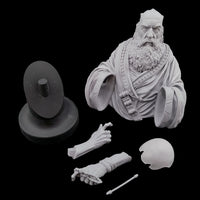 "alt=""knowledge the Greek cyber philosopher 1/10 scale bust unassembled components"""