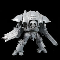 "alt=""Imperial Knight Ionic Las-Propulsor assembled with four fins on an imperial knight front on"""