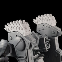 "alt=""Tau riptide smart missile pods assembled and mounted on a tau riptide battlesuit zoomed in rear view"""